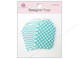 Queen & Company: Queen&Co Designer Tags Blue