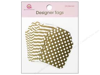 Tags Clearance Crafts: Queen&Co Designer Tags Gold