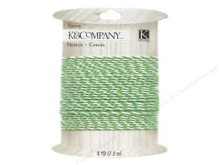 Clearance Blue: K&Company Embellishments Lily Ashbury Indigo Garden Twine Green And White