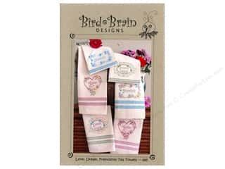 "Bird Brain Design 4"": Bird Brain Designs Love, Dream, Friendship Tea Towels Pattern"