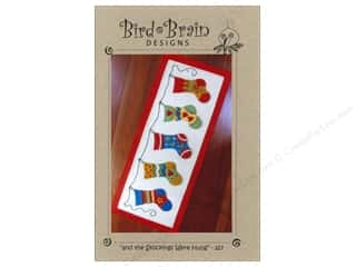 "Stitchery, Embroidery, Cross Stitch & Needlepoint Holiday Gift Ideas Sale: Bird Brain Designs ""And The Stockings Were Hung.."" Table Runner Pattern"