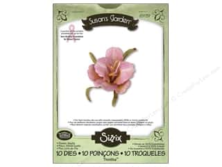 Non-Profits Clearance Crafts: Sizzix Thinlits Die Set 10PK Flower Daylily by Susan Tierney