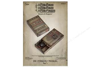 "Dies 12"": Sizzix Movers & Shapers L Die Matchbox by Tim Holtz"