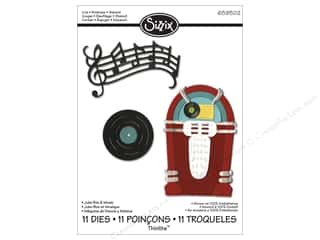 Sizzix Die JLong Thinlits Juke Box & Music