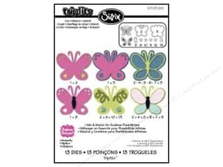 Insects Sizzix Die: Sizzix Dies Triplits Butterfly by Stephanie Barnard