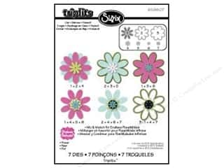 Flowers $3 - $4: Sizzix Dies Triplets Flower #3 by Stephanie Barnard