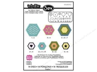 Sizzix Dies Triplets Hexagon by Stephanie Barnard