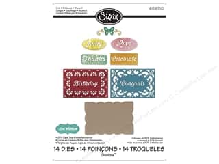 Sizzix Die LWhitlock Thinlits Gift Card Box Embel