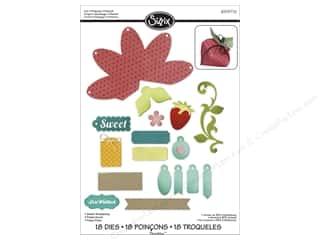 Fruit & Vegetables paper dimensions: Sizzix Dies Lori Whitlock Thinlits Sweet Strawberry
