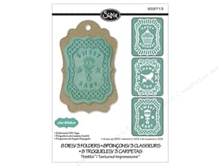 Tags Gifts: Sizzix Dies Lori Whitlock Thinlits Textured Impressions Embossed Gift Tags