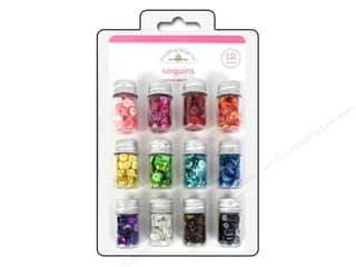 Doodlebug Clear: Doodlebug Sequins Assorted Rainbow