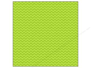 "Doodlebug Paper 12""x 12"" Sugar Coated Chevron Limeade (25 piece)"