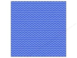 Doodlebug: Doodlebug Paper 12 x 12 in. Sugar Coated Chevron Blue Jean (25 sheets)