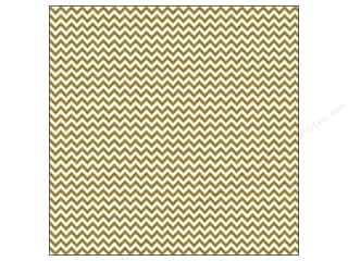 Doodlebug: Doodlebug Paper 12 x 12 in. Sugar Coated Chevron Metallic Gold (25 sheets)