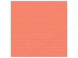 Doodlebug: Doodlebug Paper 12 x 12 in. Sugar Coated Chevron Coral (25 sheets)