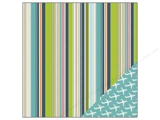 Vacations: Imaginisce Paper 12x12 Perfect Vacation Random Stripe (25 pieces)