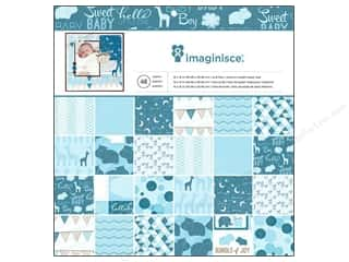 "Imaginisce Hearts: Imaginisce Paper Pad My Baby Boy 12""x 12"" 48pc"