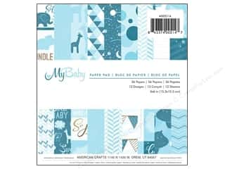"Imaginisce Hearts: Imaginisce Paper Pad My Baby Boy 6""x 6"" 36pc"