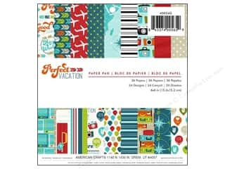 "Compass Clearance Crafts: Imaginisce Paper Pad Perfect Vacation Travel 6""x 6"" 36pc"