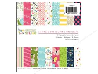 "Outdoors Spring: Imaginisce Paper Pad Welcome Spring 6""x 6"" 36pc"