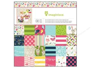 "Imaginisce Paper Crafting Tools: Imaginisce Paper Pad Welcome Spring 12""x 12"" 48pc"