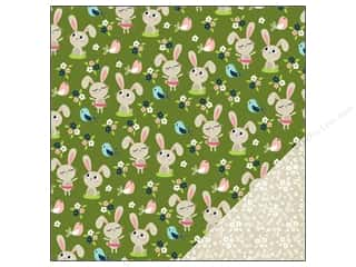 "Spring Printed Cardstock: Imaginisce Paper 12""x 12"" Welcome Spring Hop To It (25 pieces)"