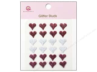 Metal paper dimensions: Queen&Co Sticker Glitter Studs Hearts