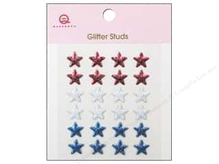 Queen & Company Metal: Queen&Co Sticker Glitter Studs Stars