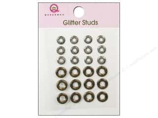 Queen&Co Sticker Glitter Studs Lifesaver Gold/Slvr