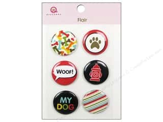Queen & Company Novelty Buttons: Queen&Co Sticker Pet Flair