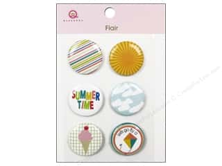 Queen & Company Novelty Buttons: Queen&Co Sticker Summer Flair