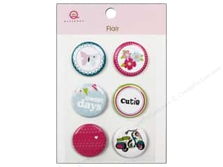 Queen & Company Novelty Buttons: Queen&Co Sticker Girl Flair