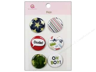Queen & Company Novelty Buttons: Queen&Co Sticker Boy Flair