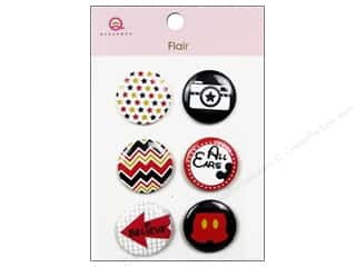 Queen & Company Novelty Buttons: Queen&Co Sticker Magic Flair #3