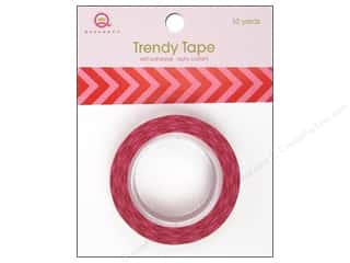Queen&Co Trendy Tape 10yd Chevron Juice Pink