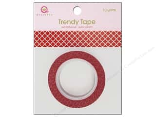 Queen&Co Trendy Tape 10yd Quatrefoil Red