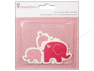Imaginisce Paper Die Cuts / Paper Shapes: Imaginisce Die Cut My Baby Girl Bunnies & Elephants