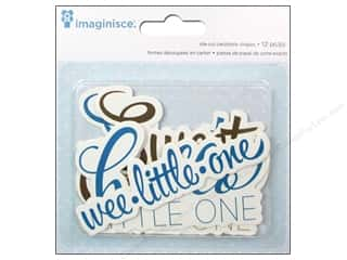 Imaginisce Paper Die Cuts / Paper Shapes: Imaginisce Die Cut My Baby Boy Phrases