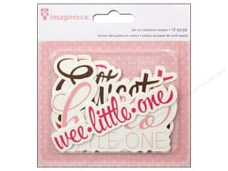 Imaginisce Paper Die Cuts / Paper Shapes: Imaginisce Die Cut My Baby Girl Phrases