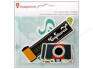 Imaginisce Paper Die Cuts / Paper Shapes: Imaginisce Die Cut Perfect Vacation Flashy