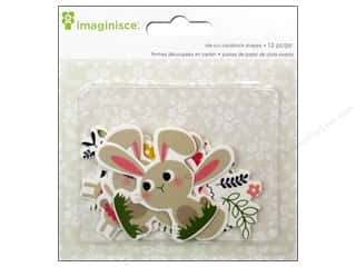 Outdoors Spring: Imaginisce Die Cut Welcome Spring Bunny Friends