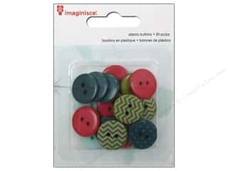 Vacations: Imaginisce Embellishments Perfect Vacation Travel Plastic Button