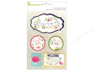 Spring Stickers: Imaginisce Sticker Welcome Spring Live Brightly 3D