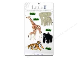 Little B Decorative Sticker Med Zoo Animals