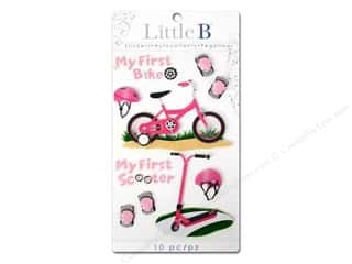 Outdoors Felting: Little B Sticker Medium First Bicycle Girl