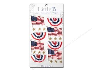 Shabby Fabrics Independence Day: Little B Sticker Medium USA Flags