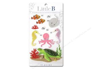 Little B, Inc Beach & Nautical: Little B Sticker Medium Sea Creatures
