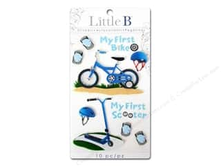 Outdoors paper dimensions: Little B Sticker Medium First Bicycle Boy