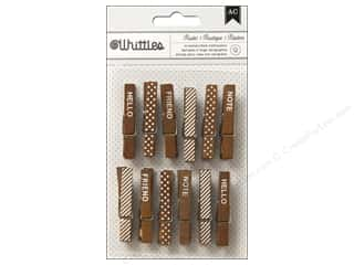 American Crafts Clothespins 12 pc.Rustic