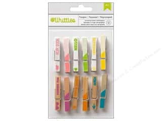 Summer Hot: American Crafts Whittles Clothespins 12 pc. Summer Carefree